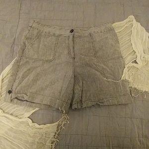 Rafaella blue/white striped shorts